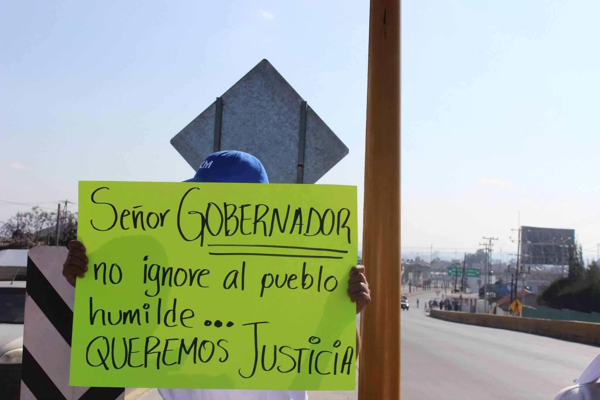 Sr. Gobernador, queremos Justicia
