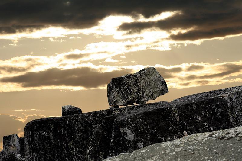 As estranhas rochas da montanha da morte
