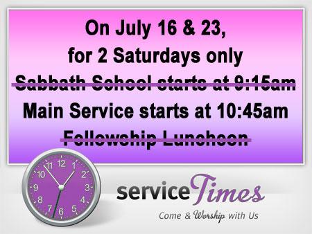 Service Times - Promo Image