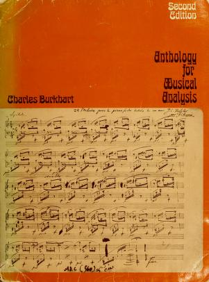 Cover of: Anthology for Musical Analysis Edition | Charles Burkhart